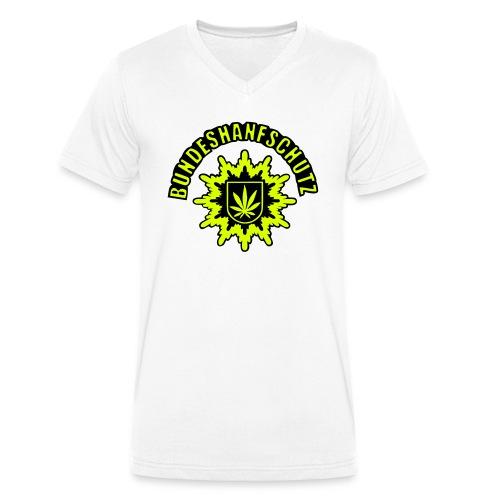 Bundeshanfschutz, simplifiziert, mit Schriftzug - Männer Bio-T-Shirt mit V-Ausschnitt von Stanley & Stella