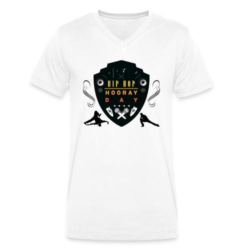 HHHDshield clear - Økologisk T-skjorte med V-hals for menn fra Stanley & Stella