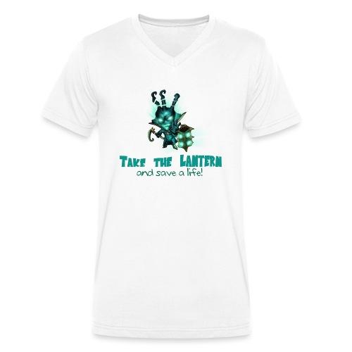 Chibi Thresh con scritta TAZZA - T-shirt ecologica da uomo con scollo a V di Stanley & Stella