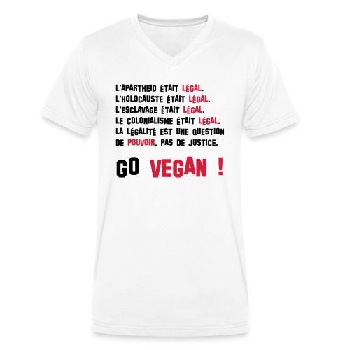GO VEGAN - T-shirt bio col V Stanley & Stella Homme
