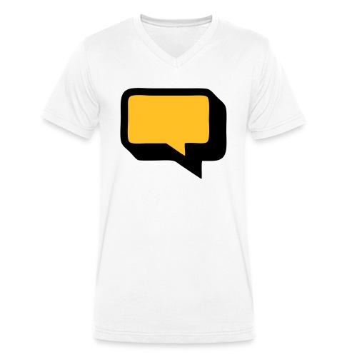 Sprechblase 3D 2c - Männer Bio-T-Shirt mit V-Ausschnitt von Stanley & Stella