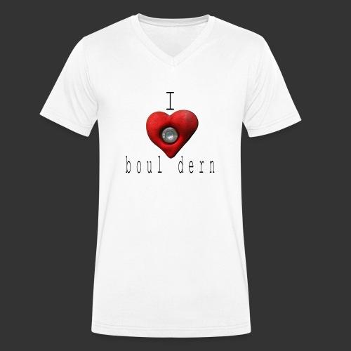 I love bouldern - Männer Bio-T-Shirt mit V-Ausschnitt von Stanley & Stella