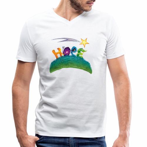 Hope - Men's Organic V-Neck T-Shirt by Stanley & Stella