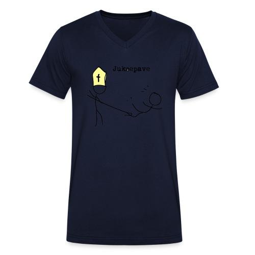 juksepave png - Økologisk T-skjorte med V-hals for menn fra Stanley & Stella