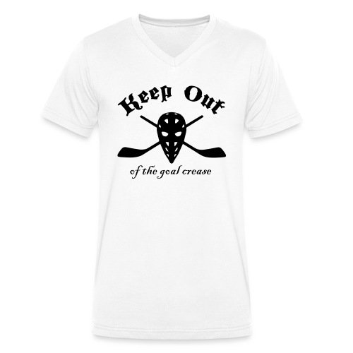 Keep Out Of The Goal Crease (Ice Hockey) - Men's Organic V-Neck T-Shirt by Stanley & Stella