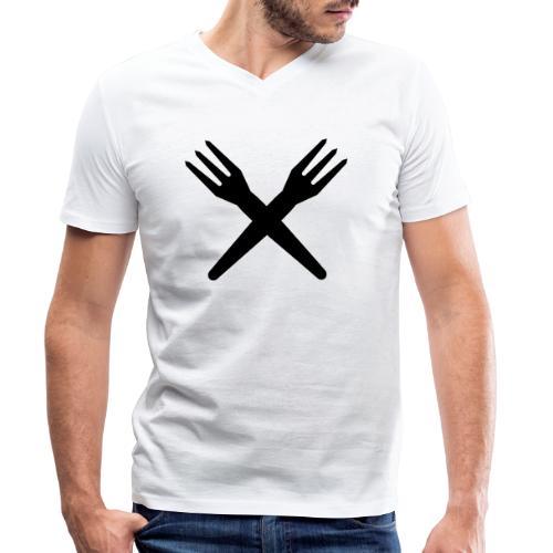 gekruiste frietvorken - trident - T-shirt bio col V Stanley & Stella Homme
