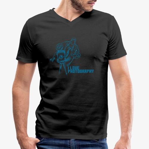Photography - Camiseta ecológica hombre con cuello de pico de Stanley & Stella