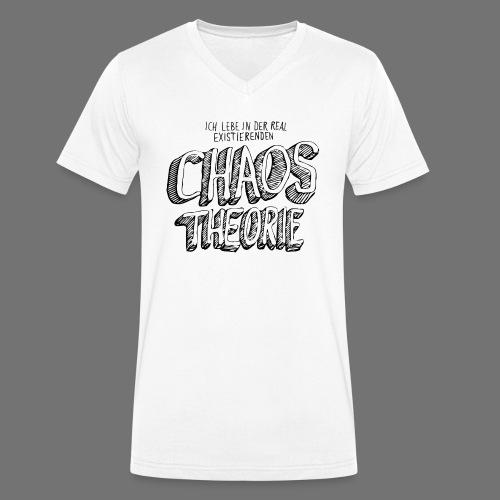Chaos Theory (musta) - Stanley & Stellan miesten luomupikeepaita