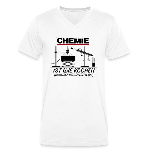 Chemie ist wie kochen - Männer Bio-T-Shirt mit V-Ausschnitt von Stanley & Stella