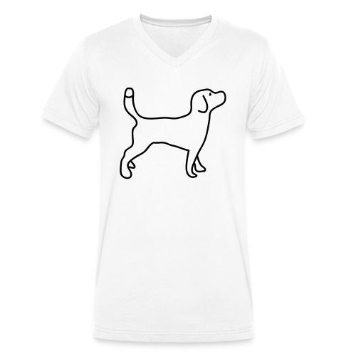 Beagle - Männer Bio-T-Shirt mit V-Ausschnitt von Stanley & Stella