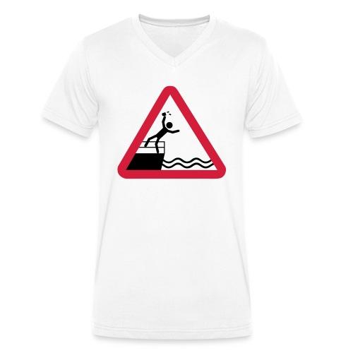 Bitte kein Bier Verschütten! - Männer Bio-T-Shirt mit V-Ausschnitt von Stanley & Stella