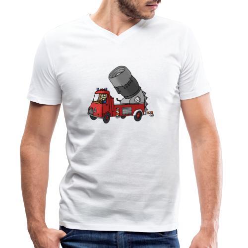 Wasserwerfer - Männer Bio-T-Shirt mit V-Ausschnitt von Stanley & Stella