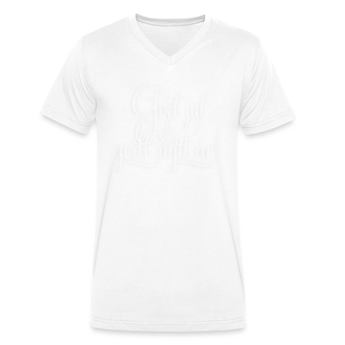God jul & godt nytt år! - detnorskeplagg.no - Økologisk T-skjorte med V-hals for menn fra Stanley & Stella