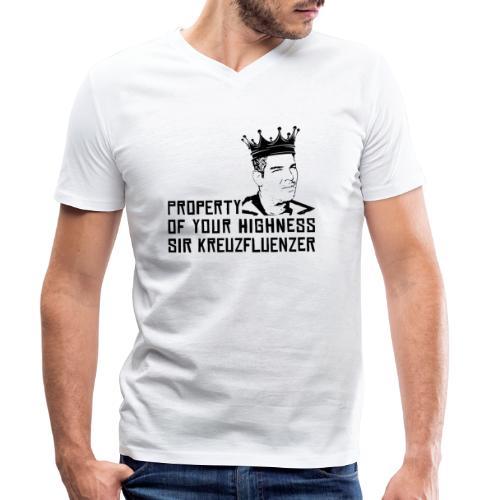 Property of your Highness Black - Männer Bio-T-Shirt mit V-Ausschnitt von Stanley & Stella
