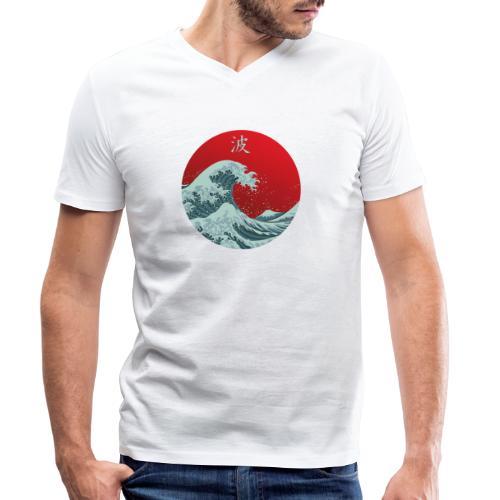 Kanagawa waves - T-shirt ecologica da uomo con scollo a V di Stanley & Stella