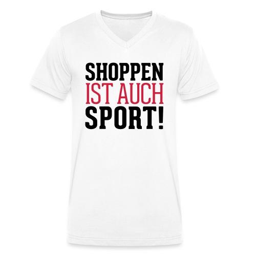 Shoppen ist auch Sport! - Männer Bio-T-Shirt mit V-Ausschnitt von Stanley & Stella