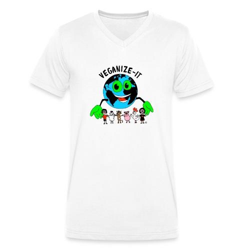 veganize-it-bunt - Männer Bio-T-Shirt mit V-Ausschnitt von Stanley & Stella