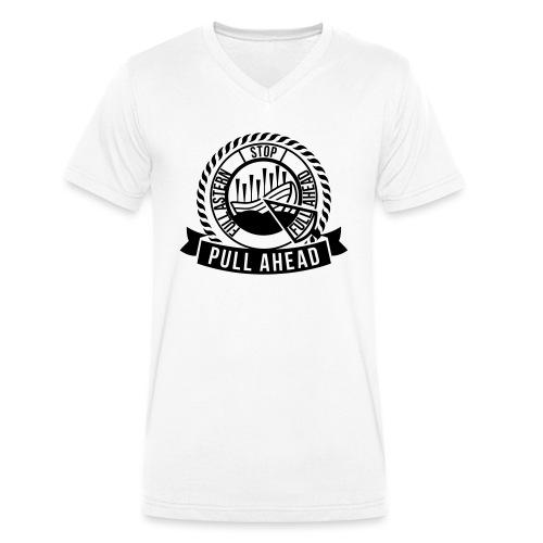 Logo Pull Ahead - Männer Bio-T-Shirt mit V-Ausschnitt von Stanley & Stella