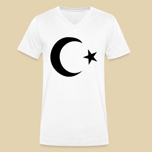 Halbmond - Türkei - Männer Bio-T-Shirt mit V-Ausschnitt von Stanley & Stella