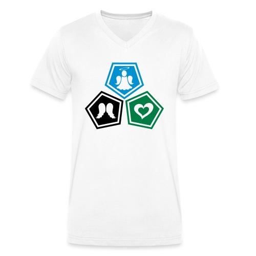 Tee shirt baseball Enfant Trio ange, ailes d'ange - Men's Organic V-Neck T-Shirt by Stanley & Stella