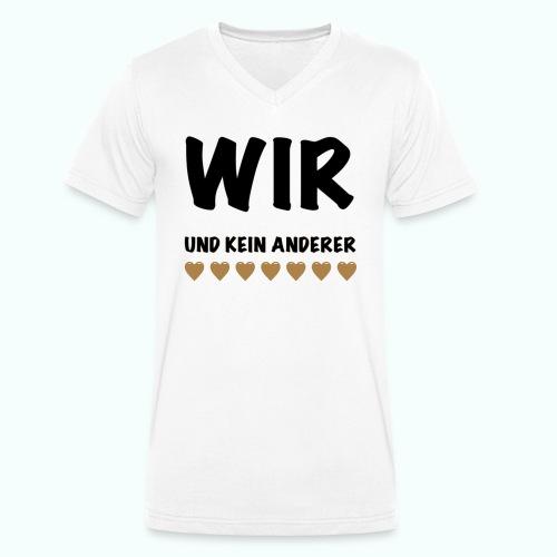 WIR - Männer Bio-T-Shirt mit V-Ausschnitt von Stanley & Stella