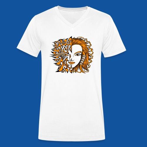 Die Natur von Sowa - Männer Bio-T-Shirt mit V-Ausschnitt von Stanley & Stella