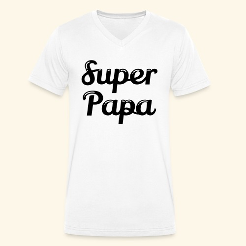 Super Papa - T-shirt bio col V Stanley & Stella Homme