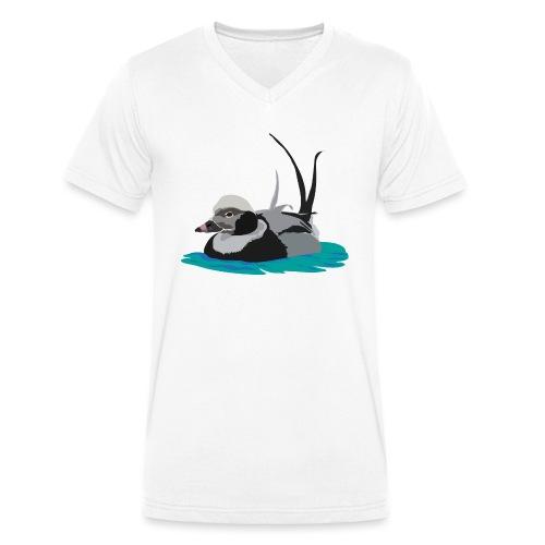 Eisente - Männer Bio-T-Shirt mit V-Ausschnitt von Stanley & Stella
