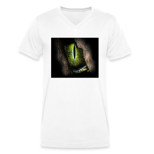 ReptilianEye - Männer Bio-T-Shirt mit V-Ausschnitt von Stanley & Stella