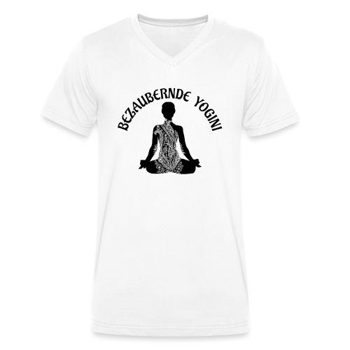 Bezaubernde Yogini - Männer Bio-T-Shirt mit V-Ausschnitt von Stanley & Stella