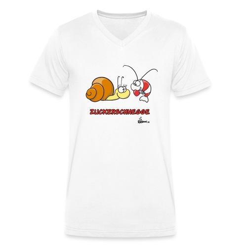 zuckerschnegge - Männer Bio-T-Shirt mit V-Ausschnitt von Stanley & Stella