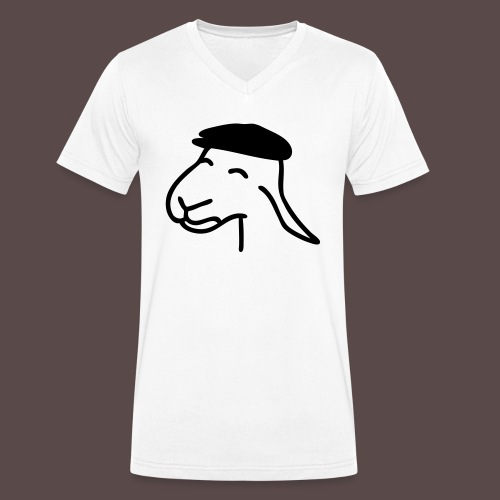 Pecorella contadina - T-shirt ecologica da uomo con scollo a V di Stanley & Stella