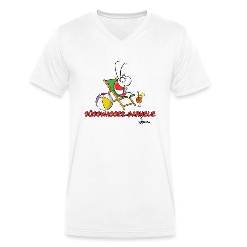 suesswasser_garnele - Männer Bio-T-Shirt mit V-Ausschnitt von Stanley & Stella