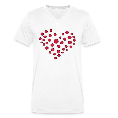 Polka - Økologisk Stanley & Stella T-shirt med V-udskæring til herrer