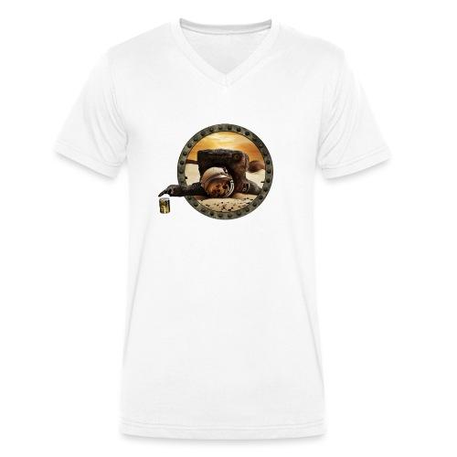 Coup de mou ? (texte personnalisable) - T-shirt bio col V Stanley & Stella Homme