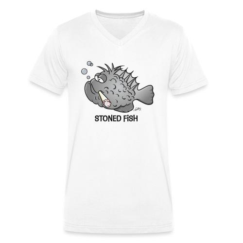 stonedfish - Männer Bio-T-Shirt mit V-Ausschnitt von Stanley & Stella