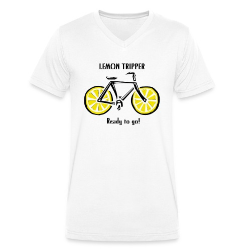 LEMON TRIPPER BICYCLE Textiles and Gifts Products - Stanley & Stellan miesten luomupikeepaita