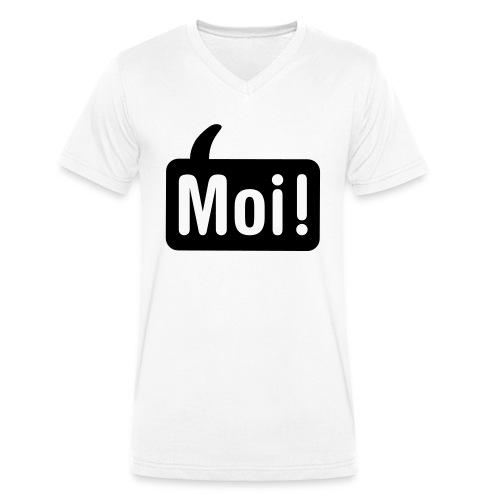 hoi shirt front - Mannen bio T-shirt met V-hals van Stanley & Stella