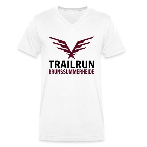 Vectorlogo Trailrun Bruns - Mannen bio T-shirt met V-hals van Stanley & Stella