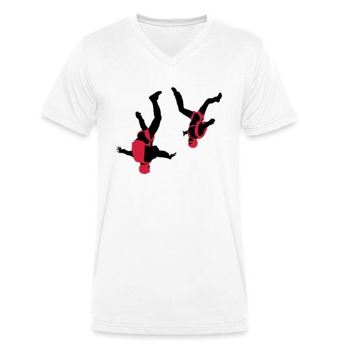 parachutisme Free Fly - T-shirt bio col V Stanley & Stella Homme
