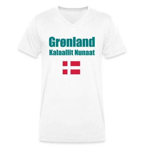 Grønland Expedition - graues Survival Shirt - Männer Bio-T-Shirt mit V-Ausschnitt von Stanley & Stella