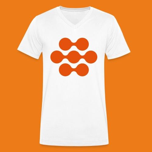 seed madagascar logo squa - Men's Organic V-Neck T-Shirt by Stanley & Stella