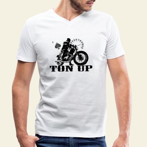ton up black - Økologisk Stanley & Stella T-shirt med V-udskæring til herrer