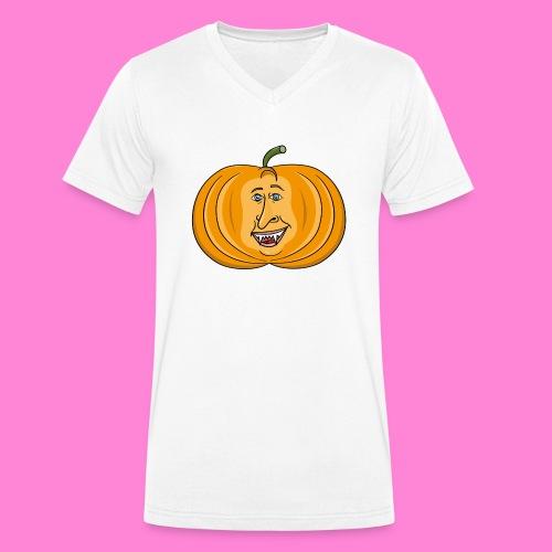 Rick pumpkin - Mannen bio T-shirt met V-hals van Stanley & Stella