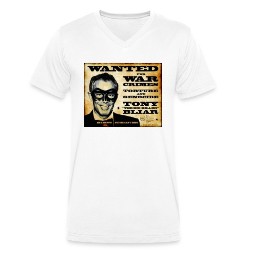 Wanted - Men's Organic V-Neck T-Shirt by Stanley & Stella