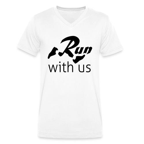 Run with us - Männer Bio-T-Shirt mit V-Ausschnitt von Stanley & Stella