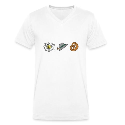 Edelweiß Trio - Männer Bio-T-Shirt mit V-Ausschnitt von Stanley & Stella