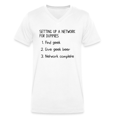 Setting up a network for dummies - Men's Organic V-Neck T-Shirt by Stanley & Stella