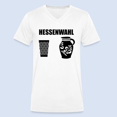 Hessenwahl Apfelwein - Männer Bio-T-Shirt mit V-Ausschnitt von Stanley & Stella