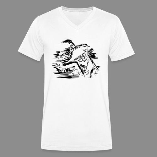 Motorcycle Skull - Camiseta ecológica hombre con cuello de pico de Stanley & Stella